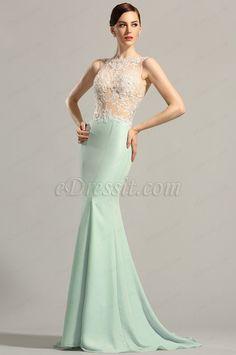 eDressit Sleeveless Lace Applique Evening Gown Formal Dress (00154904)