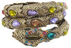 One Kings Lane - Vintage Downstairs - Snake  Bracelet