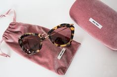 Miu Miu tortoise cat eye sunglasses