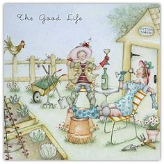 BEST SELLER - The Good Life Gardening Berni Parkers Designs Card  £2.75 - FREE Postage!