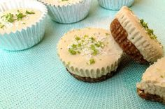 Raw Vegan Key Lime Coconut Cheesecake Cups #Gluten Free | One Green Planet