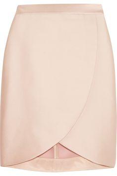 Stella McCartney Kravitz satin-twill wrap-effect skirt