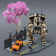 Scorch on Angel City (from Titanfall by SteppedOnABrick: Pimped from Flic Lego Mecha, Lego Titanfall, Robot Lego, Lego Bots, Lego Bionicle, Lego War, Lego Lego, Lego Design, Lego Machines