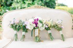White, Blush Pink Wedding Bouquet | Vintage, Garden Wedding Flowers