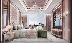 Bedroom Color Schemes, Bedroom Colors, Bedroom Decor, Modern Villa Design, Modern Bedroom Design, Dream Home Design, House Design, Sister Bedroom, House Makeovers