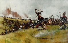Zulu Impi at Isandlwana 1879 Military Art, Military History, Zulu Warrior, Age Of Empires, War Image, African History, British History, Fantasy Art, Colonial