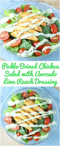 Pickle-Brined Chicken Salad with Avocado Lime Ranch Dressing (Gluten-Free, Low-Carb)