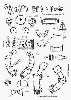 robot art for kids How to Draw Robots - Words amp; Arte Robot, Robot Art, Robots For Kids, Art For Kids, Robots Robots, Documents D'art, The Wild Robot, Robots Drawing, How To Draw Robots
