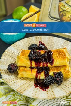 Sweet Cheese Blintzes - Chef Dean Sheremet creates the perfect dish for Easter brunch! Tune in to Home and Family weekdays at 10/9c on Hallmark Channel!