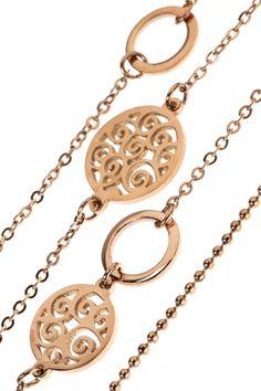 LAYER Kette rosé vergoldet Jewels, Personalized Items, Gemstone Earrings, Neck Chain, Armband, Jewelery, Gemstones, Jewelry, Jewerly