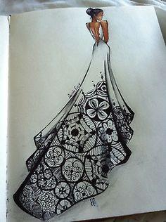 LOVE LOVE LOVE LOVE this wedding dress sketch!!!!!!