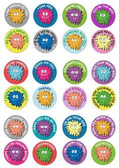 Warm Fuzzies sticker sheet – 24 mixed | Talking TA