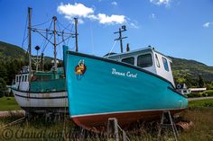 Boat at Cape Breton Island, Nova Scotia