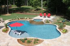 Having a pool sounds awesome especially if you are working with the best backyard pool landscaping ideas there is. How you design a proper backyard with a pool matters. Backyard Pool Landscaping, Backyard Pool Designs, Swimming Pools Backyard, Swimming Pool Designs, Inground Pool Designs, Backyard Beach, Patio Decks, Lap Pools, Small Swimming Pools