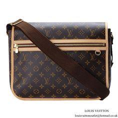 ad4b85601fa8 Louis Vuitton M40105 Messenger GM Bosphore Messenger Bag Monogram Canvas