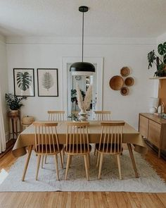 Purposeful Design + Thoughtful Living: Explore inspiring spaces from our community and share your own with Boho Living Room, Home Living, Living Room Decor, Dining Room Design, Dining Room Table, Warm Dining Room, Minimalist Dining Room, Muebles Living, Style Deco