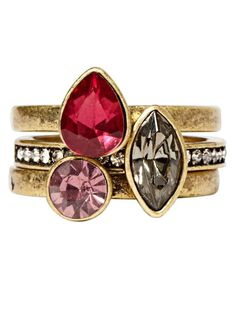 This stack of rings looks expensive. She will like! Rings, $42 for set of 3; chloeandisabel.com. - Devon Jarvis