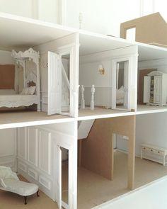 White & Faded dolls house in progress...