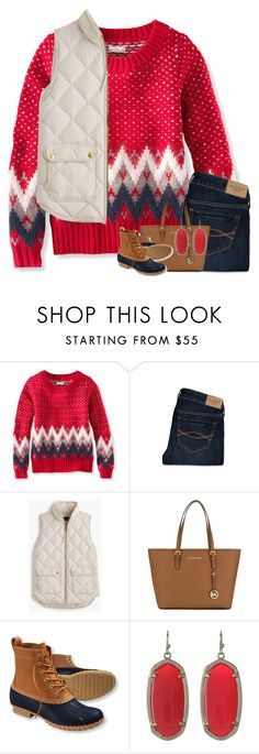 """""""I wanna be that song."""" by your-daily-prep ❤ liked on Polyvore featuring L.L.Bean, Abercrombie & Fitch, J.Crew, MICHAEL Michael Kors and Kendra Scott"""