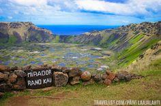 Mirador Rano Kau, Rapa Nui, Easter Island by Travellst.com Easter Island, Mountains, World, Nature, Travel, The World, Voyage, Viajes, Traveling