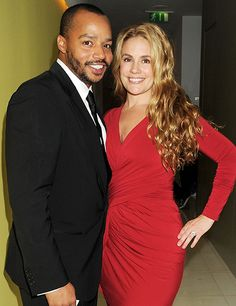 Actor Donald Faison with wife CaCee Cobb My Black Is Beautiful, Beautiful Couple, Black Love, Black Actors, Black Celebrities, Celebs, Interracial Family, Interracial Marriage, Mixed Couples