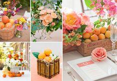Decorazioni con frutta per il matrimonio