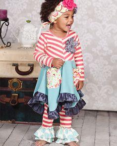 One Good Thread - Giggle Moon | Hanky Dress Set  So cuteeee and looks comfy- SHIP IT!!!