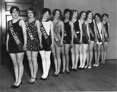 The 1927 Miss Illinois Pageant. The eventual winner Miss Joliet, Lois Delander, went on to become Miss America.