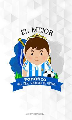 el mejor #Hincha del Real Sociedad de fútbol #portadas para móviles  #móvil #carcasas para Celular #somosMotta  #futbolEspañol #españa Ideas Para, Birthday Cards, Mugs, Cover Pages, Get Well Soon