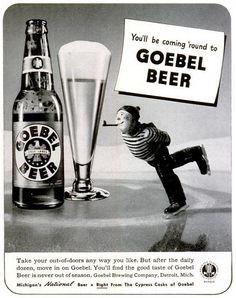 Goebel Beer advert, Life, January 11, 1943