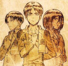 Levi, Eren, & Mikasa