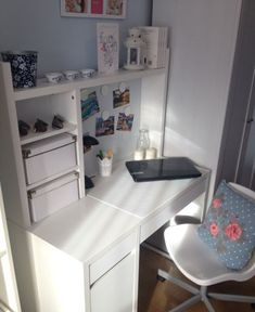 Girl Room: 75 Girl Room Ideas with Photos - Home Fashion Trend Ikea Micke, Study Room Decor, Desk Inspiration, Bedroom Desk, Home Office Decor, Home Decor, Aesthetic Bedroom, My New Room, House Rooms
