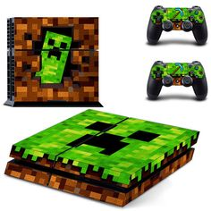 Minecraft decal for ps4 console skin sticker - Decal Design