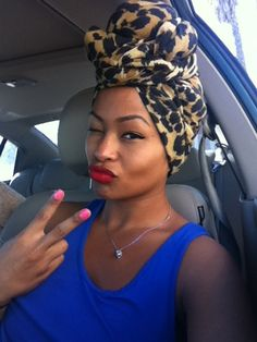 I NEED TO DO A HEADWRAP ASAP THIS WINTER LIKE THIS :) -hope