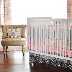 pink and grey crib bedding canada