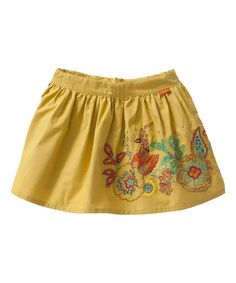 Another great find on #zulily! Yellow Seena Skirt - Toddler & Girls #zulilyfinds