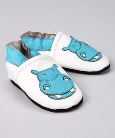 Love this Augusta Baby Blue Hippo Leather Booties by Augusta Baby on #zulily! #zulilyfinds