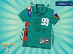 Los estampados de esta playera #Weekend harán que sea la prenda favorita de tu hijo. #TenUnLookDe10