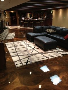 Despite an epoxy floor's industrial-strength nature, sometimes it just looks cool.