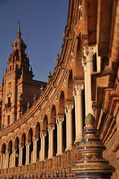 Plaza de España.  Seville, Spain Spain And Portugal, Portugal Travel, Spain Travel, Places To Travel, Places To See, Wonderful Places, Beautiful Places, Travel Around The World, Around The Worlds