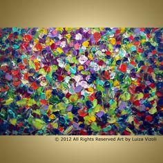 Original Modern Abstract Summer Flowers by LUIZAVIZOLI on Etsy, $345.00
