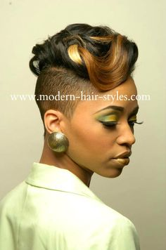 Short black women hairstyles of weaves braids and for black hairstyles with shaved sides Shaved Side Hairstyles, Black Hairstyles With Weave, Dope Hairstyles, My Hairstyle, Modern Hairstyles, Black Women Hairstyles, Wedding Hairstyles, Sassy Hair, Edgy Hair