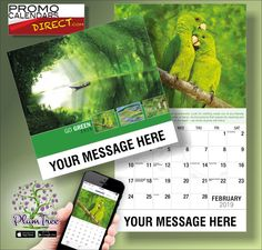 2021 Go Green Wall Calendars low as Printed with your Business, Organization or Event Name, Logo and Message. Wall Calendars, Go Green, Hands, Messages, App, Marketing, Logo, Business, Free