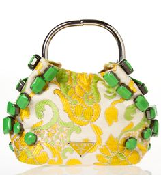 PRADA - CLUTCH LIZARD SPRING HINGE BAG DOUBLE PLEXIGLAS HANDLE ...