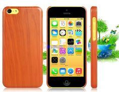 High Quality Wood Grain Protective Case for iPhone 5C