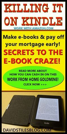 KILLING IT ON KINDLE PUBLISHING - HOW TO MAKE MONEY SELLING E-BOOKS. From: http://DavidStilesBlog.com