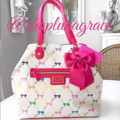 "🎀HP🎀 Betsey ""Let Us Lattice"" Trap Tote Beautiful Betsey Trap Tote has 2 generous open pockets inside & a zip pocket on opposite side. Middle snap strap closure. 8"" strap drop. NWT HP chosen by Karen @tudie11 5/13 Total Trendsetter Betsey Johnson Bags"
