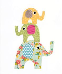 Elefante vivero ilustraciones Print / / por 3000yardsofthread