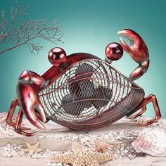 Crab Fan - Beach Home Decor http://www.decobreeze.com/unique-home-decor-gifts/unique-gifts-for-valentines-day/Fab-and-Funky-Crab-Fan