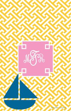 Create your own monogram wallpaper with the app, Wall About Me